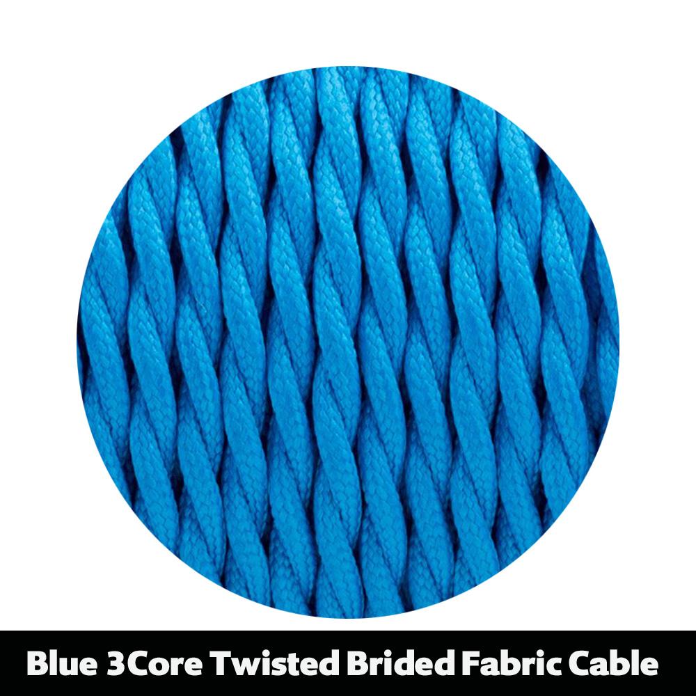 Twist Round Vintage Black White 2 3 Core Braided Fabric
