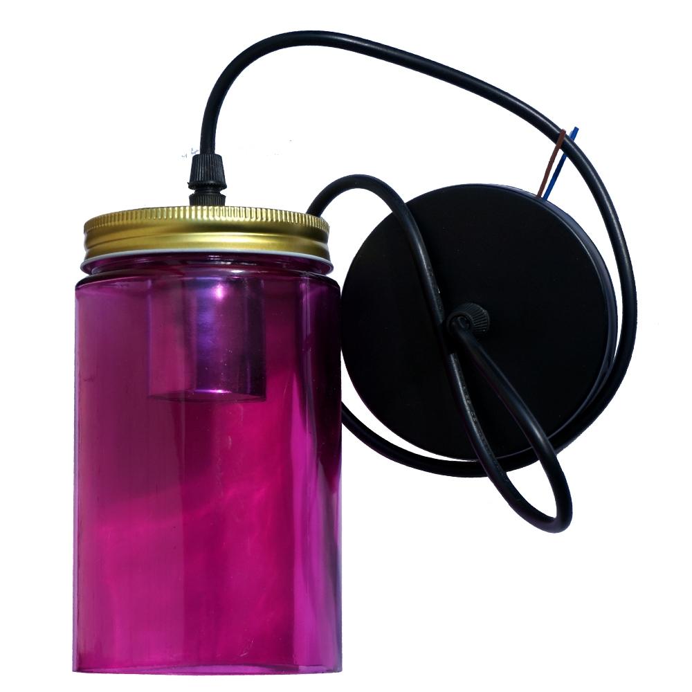 Vintage Color Glass Shade Mason Jar Chandelier Color Pendant Light Fixture Uk Ebay