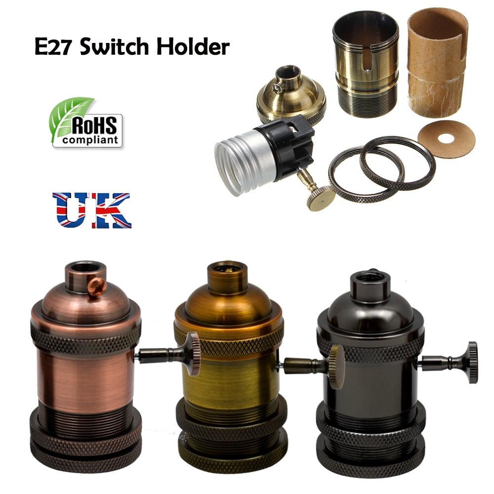Lighting Bulb Holder Vintage Industrial Lamp Antique Retro E27 Screw Fitting UK
