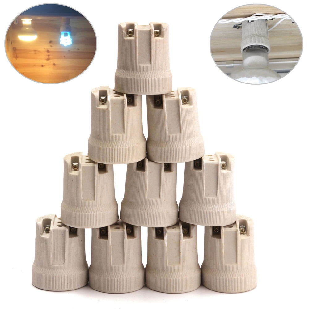 E27 Edison Screw Ceramic Porcelaine Screw Lamp Holder For Heat Bulb Ebay