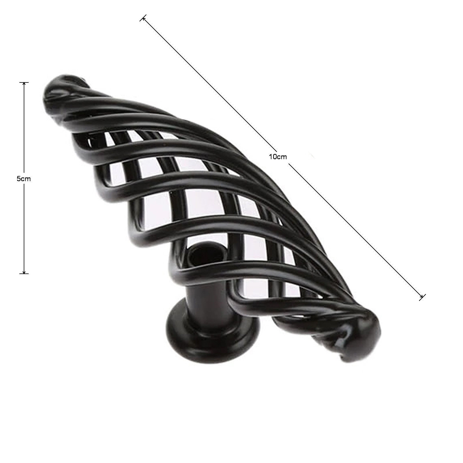 Maniglie X Mobili Da Cucina dettagli su nera maniglia per asta armadietto cucina cassetto mobili camera  da letto