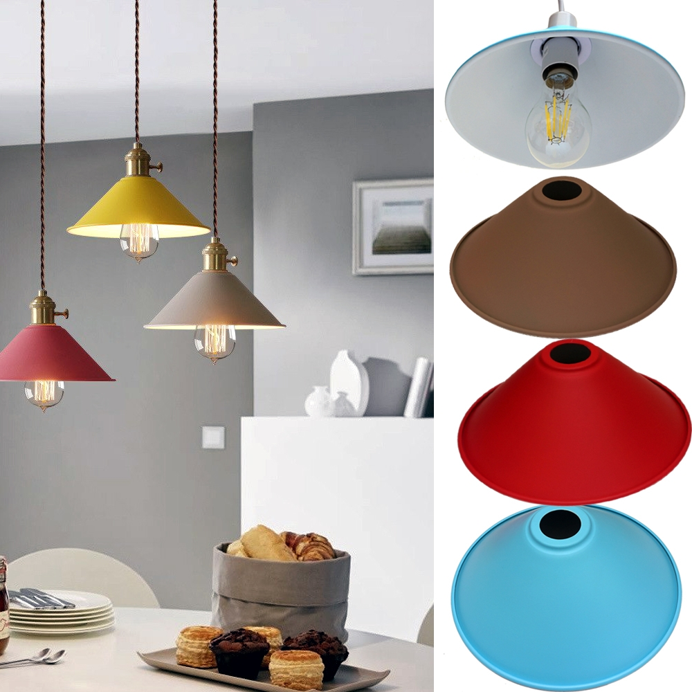 Old Fashioned Metal Lamp Shade: Vintage Metal Retro With Out Bulb Light Shade Modern Style