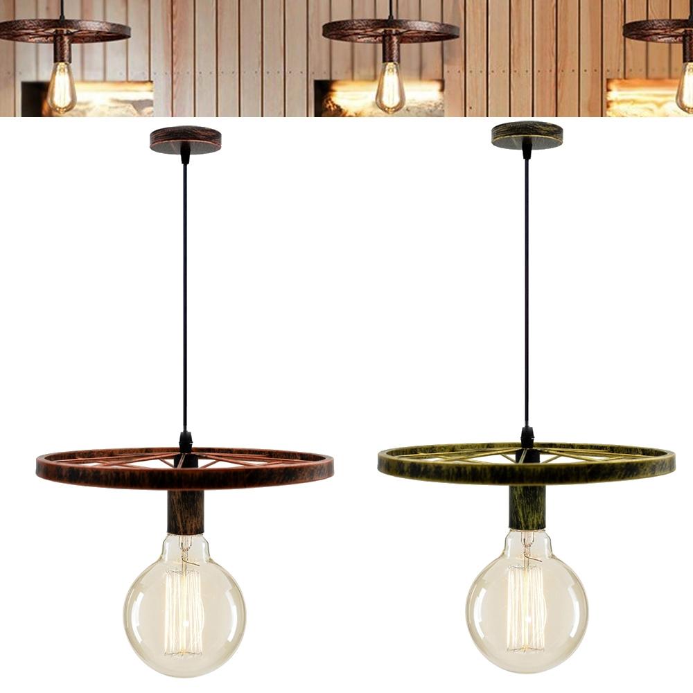 Rétro plafond métallique Pendentif Abat-jour Abat-jour contemporain Ajustement Facile Cuisine