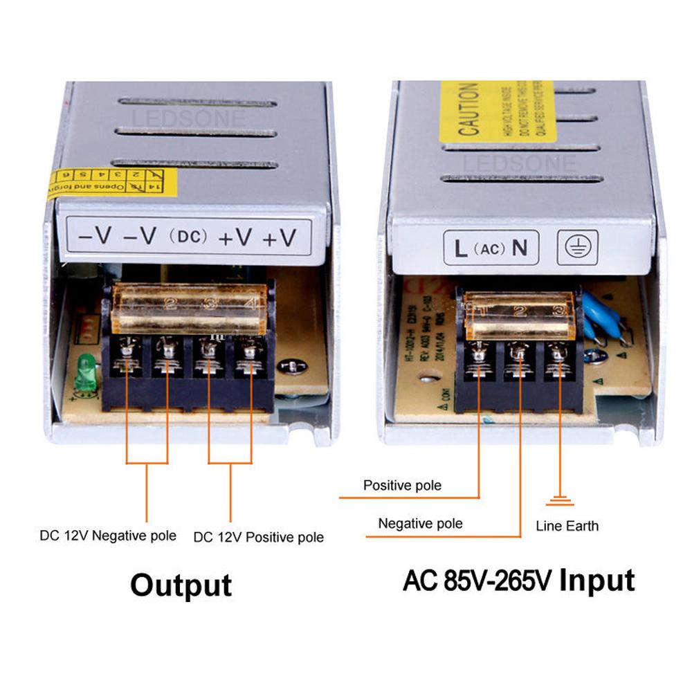 Dc 12v 5 8 10 12 16 20 30a Led Driver Power Supply Transformer For 150w Circuit Manufacturer Lights View Description
