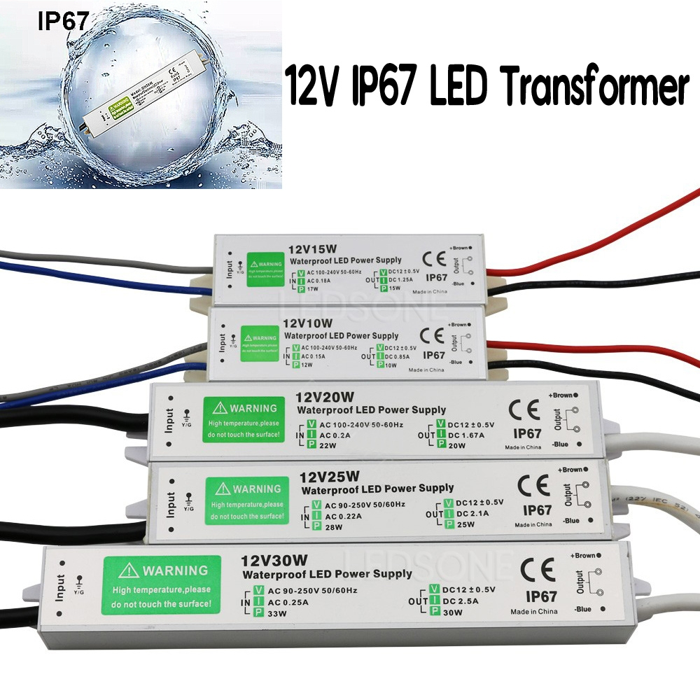 Waterproof Ip67 Led Driver Power Supply Transformer 240v Dc12v For Schematic Diagram Of Constantcurrent Source 20w Daylight Lamp A Constant Current And Voltage Regulated In Any Colour Suitable Other Electronic Product Which Uses Dc 12v