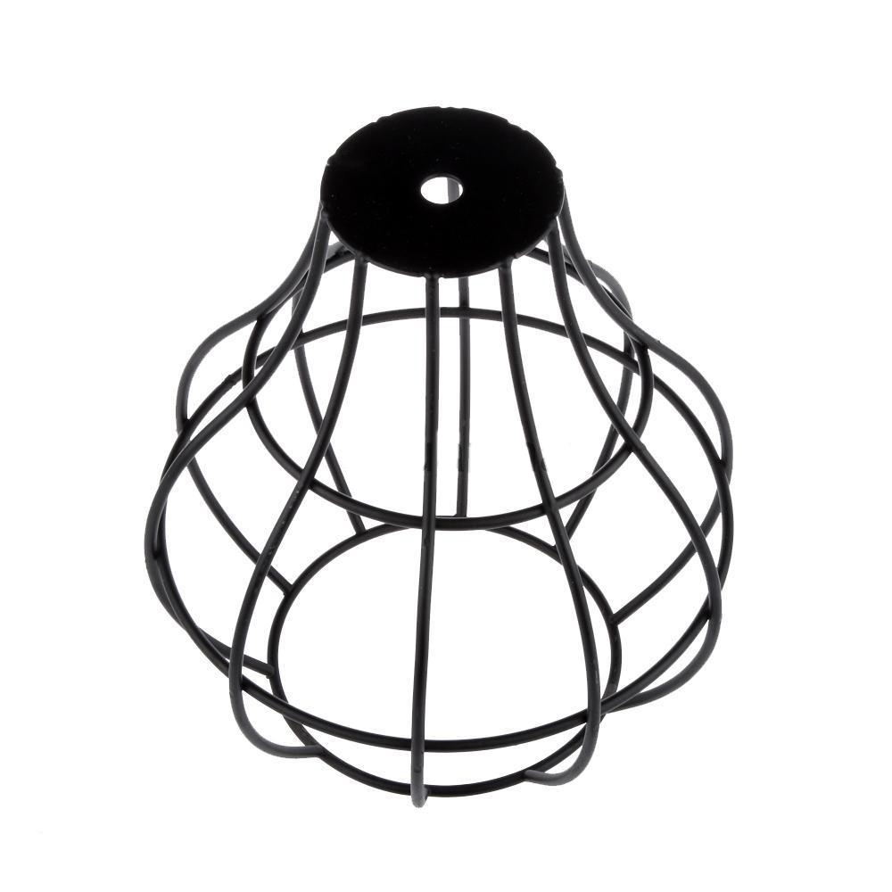 long wire shape cage vintage lampshade industrial light